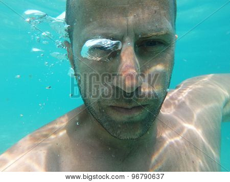 Male Model Underwater