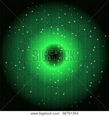 Green Dots circle background vector