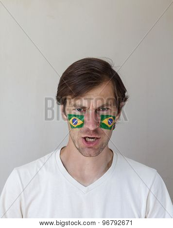 Displeased Brazilian Sports Fan