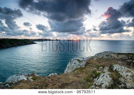 Sunset At Trevan Point