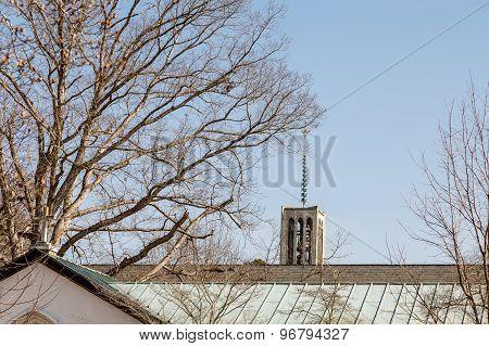 Ornate Steeple On A Abbey Chapel