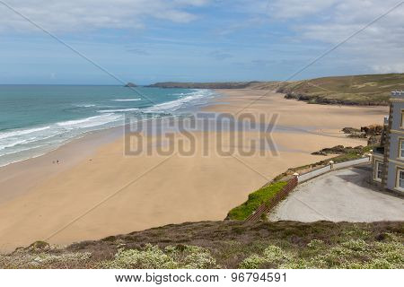 Perranporth beach North Cornwall England UK best Cornish beaches