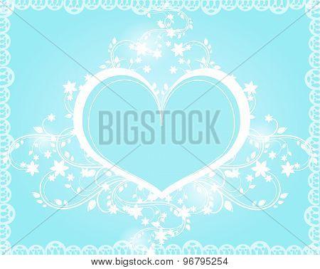Blue Heart Ornaments