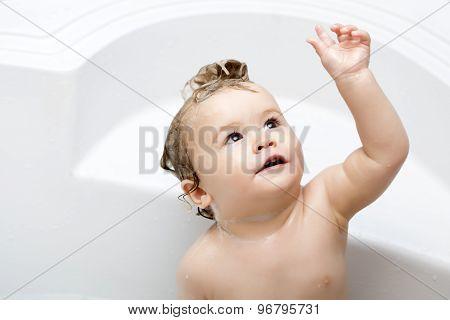 Curious Child In Bathroom