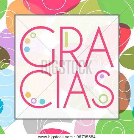 Gracias Colorful Background