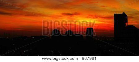 Panoramic City Sunrise