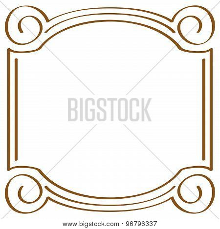 Vector Square Simple Frame For Design