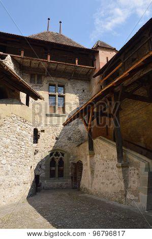 Chillon castle historical landmark of Montreux Switzerland