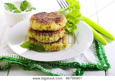 Courgette And Herb Cakes