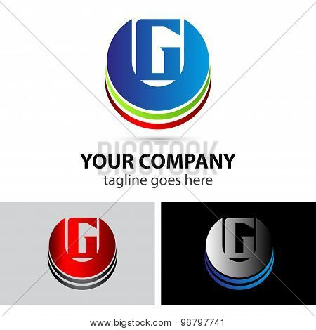 Letter G logo icon design template elements
