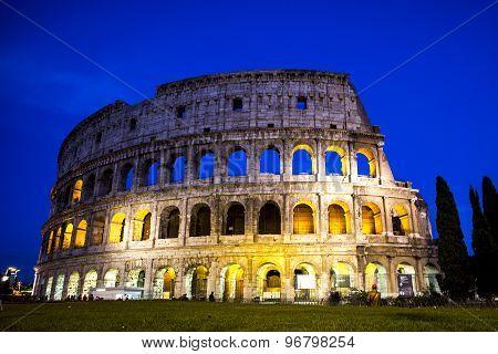 Splendid Evening Coliseum, Rome, Italy