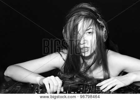 Cute Disk Jockey Girl