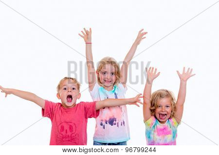Funny Jubilating Children