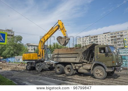 Loading Of The Dump Truck