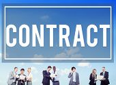 stock photo of partnership  - Contract Legal Occupation Partnership Deal Concept - JPG