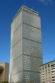 stock photo of prudential center  - prudential center boston massachussetts on a sunny day - JPG