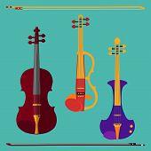Постер, плакат: Violin Set