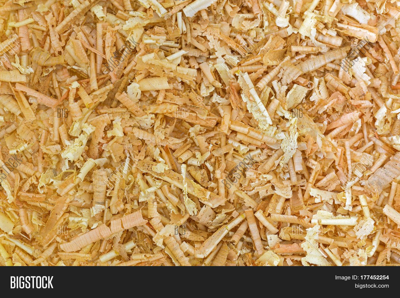 Pine Wood Chips ~ Closeup texture of aromatic flake swiss stone pine