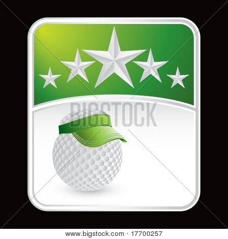 golf ball with visor on star background