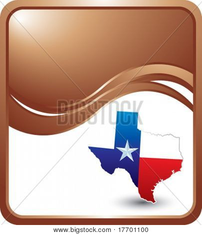 lonestar state of texas on bronze wave backdrop
