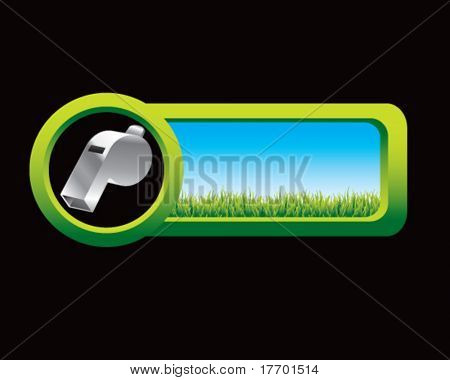 whistle on web button