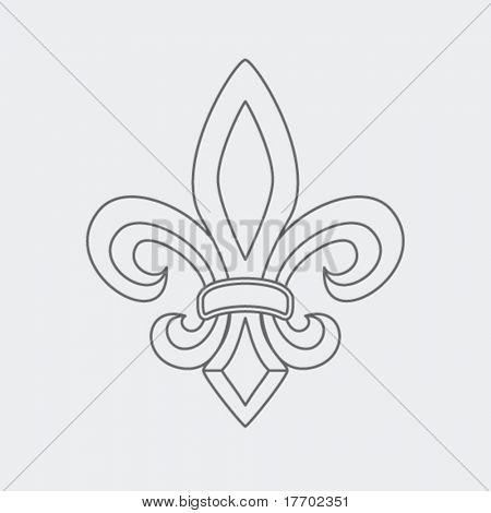 fleur de lis symbol drawing