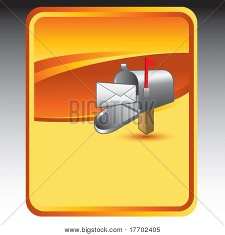 mailbox on gold background