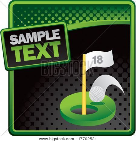 golf hole in one on classy modern style grunge template