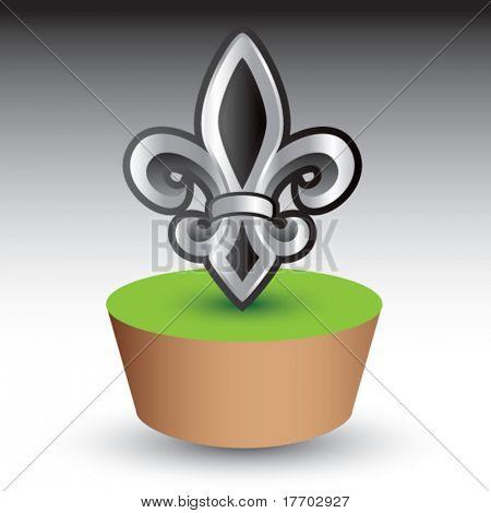 fleur de lis symbol on green patch