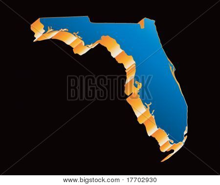 florida state shape icon in blue