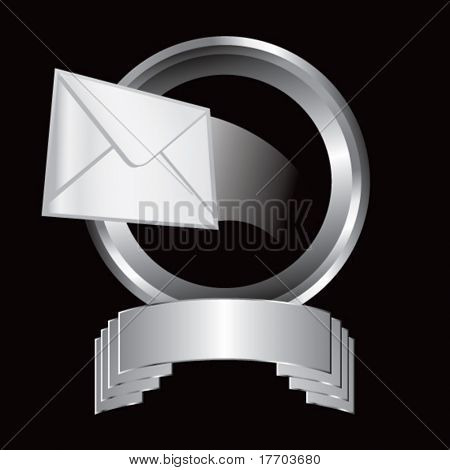 letter flying through silver display