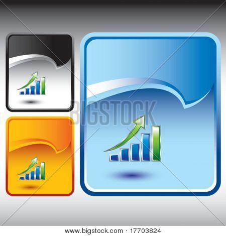 revenue growth chart on multicolored rip curl background