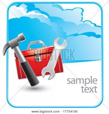 tools and toolbox on cloud advertisement