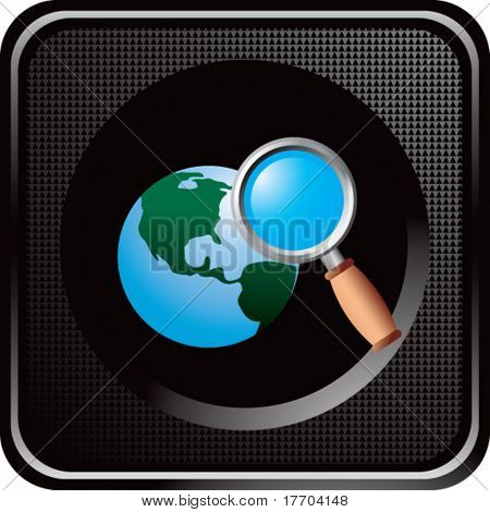 web search icon on black web button