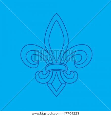 Fleur de lis símbolo blueprint
