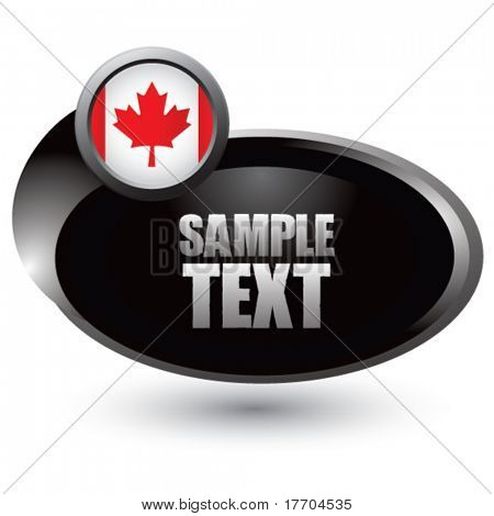 canadian flag in silver swoosh icon