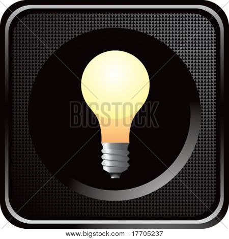 light bulb on black web button