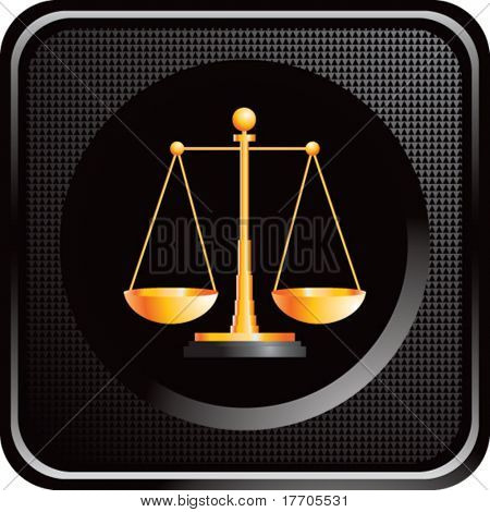scales of justice on black web button