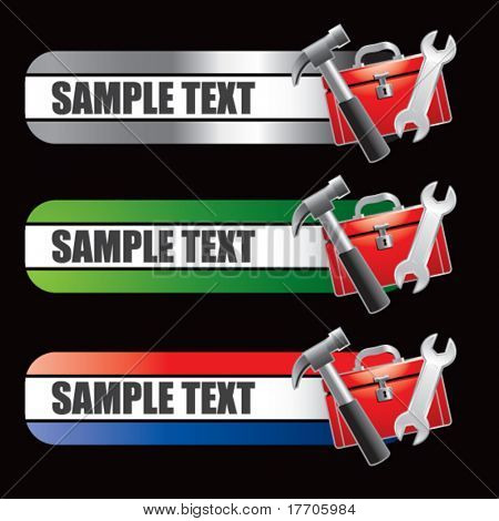 tools and toolbox specialized banners