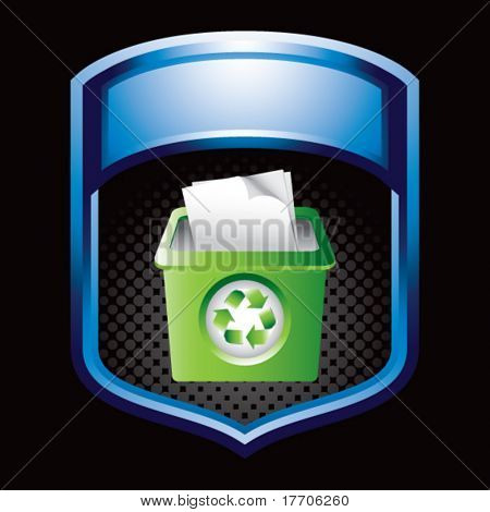 recycle bin in blue display