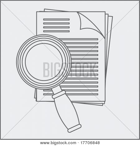 legal document and lens drawing