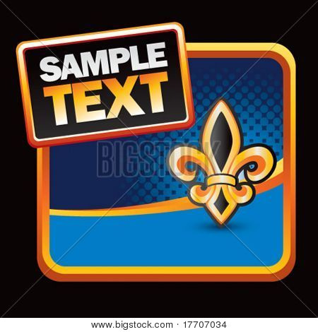 fleur de lis on stylized template