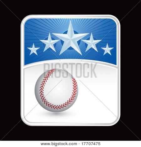 baseball on superstar background