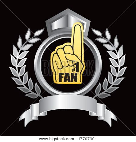 fan foam hand on silver royal display