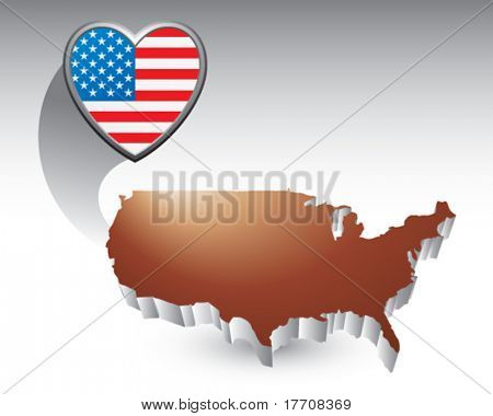 american heart over united states icon