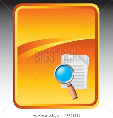 magnify documents on gold background