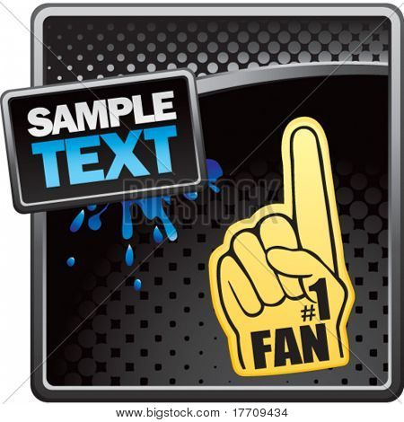 fan hand on black halftone template