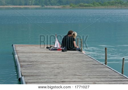 Discussion At The Edge Of Water