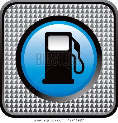gas pump icon checkered web button