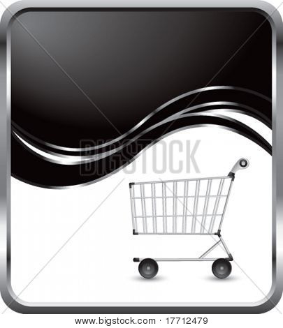 shopping cart black wave backdrop